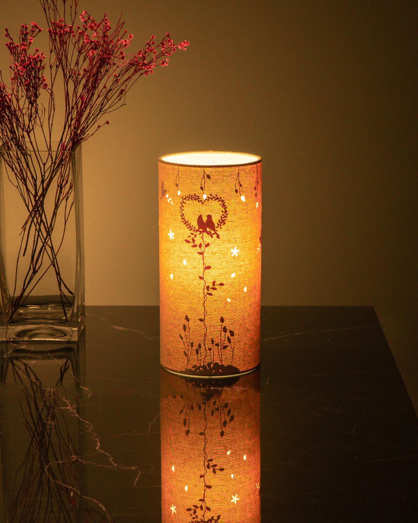 FL002 Fabric Lamp – Love Birds
